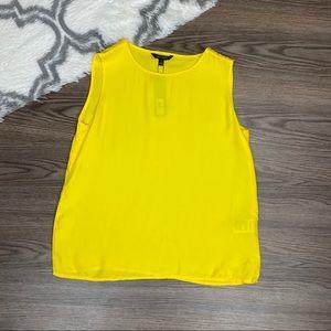 NWT Yellow Sleeveless Blouse Size Small